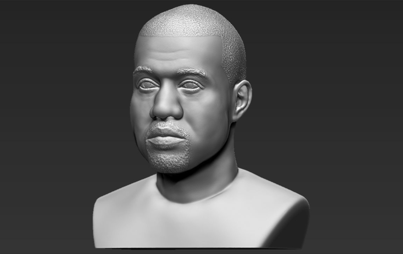 Kanye West bust ready for full color 3D printing 3D Print 231788