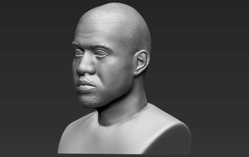 Kanye West bust ready for full color 3D printing 3D Print 231789