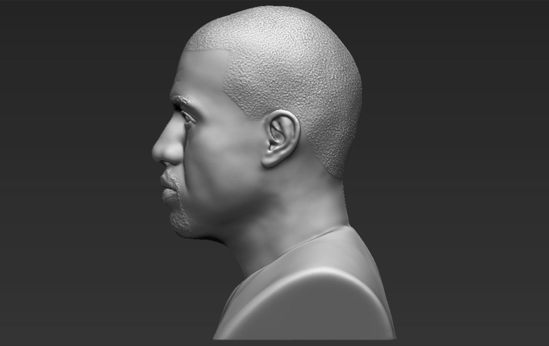 Kanye West bust ready for full color 3D printing 3D Print 231790