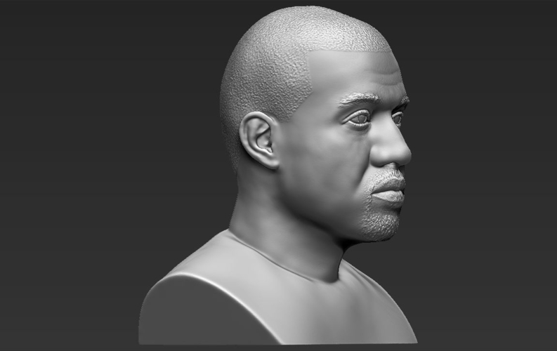 Kanye West bust ready for full color 3D printing 3D Print 231791