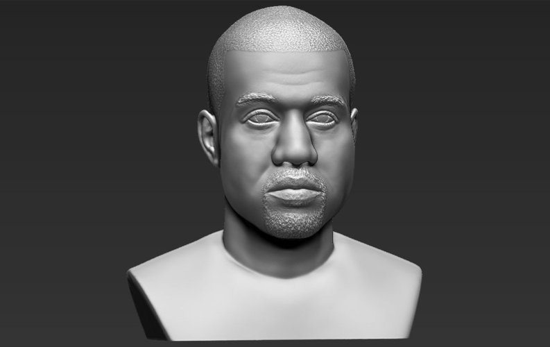 Kanye West bust ready for full color 3D printing 3D Print 231792