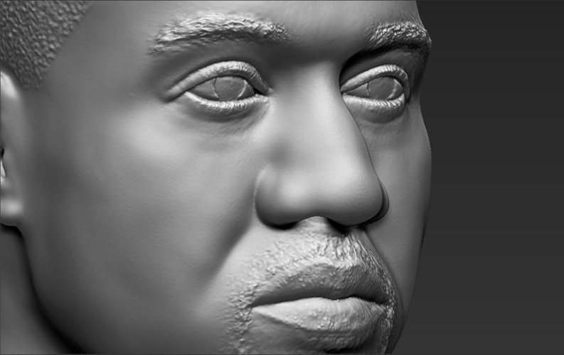 Kanye West bust ready for full color 3D printing 3D Print 231793