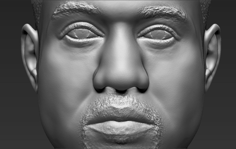 Kanye West bust ready for full color 3D printing 3D Print 231794