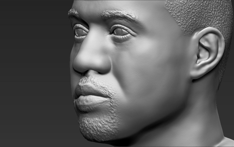 Kanye West bust ready for full color 3D printing 3D Print 231795