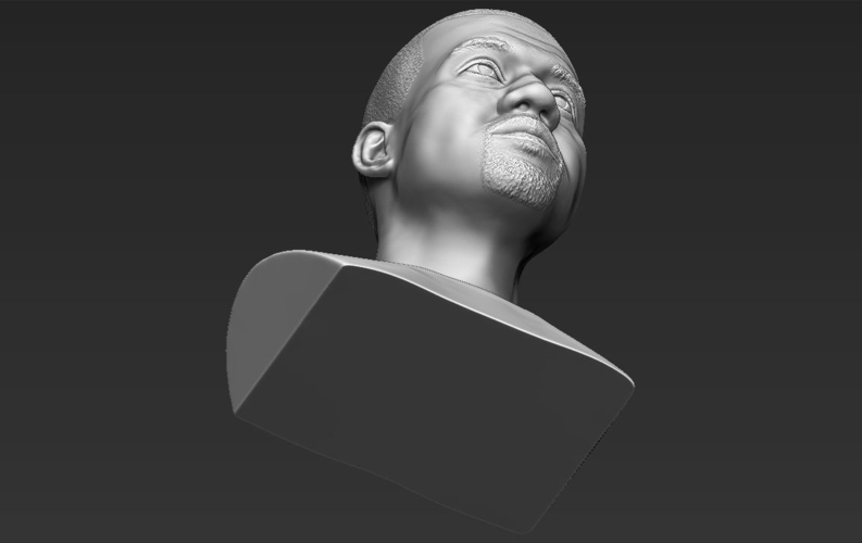 Kanye West bust ready for full color 3D printing 3D Print 231796