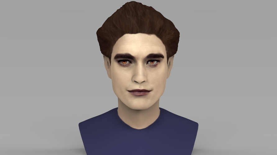 Edward Cullen Twilight Pattinson bust full color 3D printing 3D Print 231813