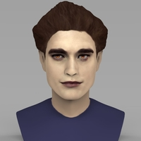 Small Edward Cullen Twilight Pattinson bust full color 3D printing 3D Printing 231813