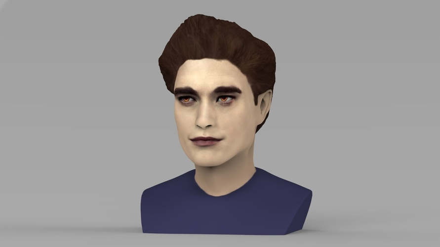 Edward Cullen Twilight Pattinson bust full color 3D printing 3D Print 231814