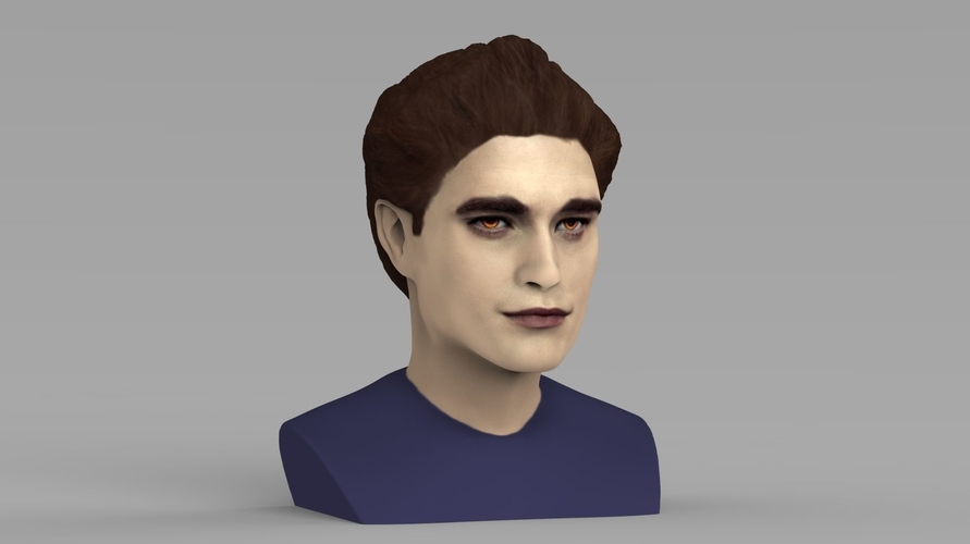 Edward Cullen Twilight Pattinson bust full color 3D printing 3D Print 231817