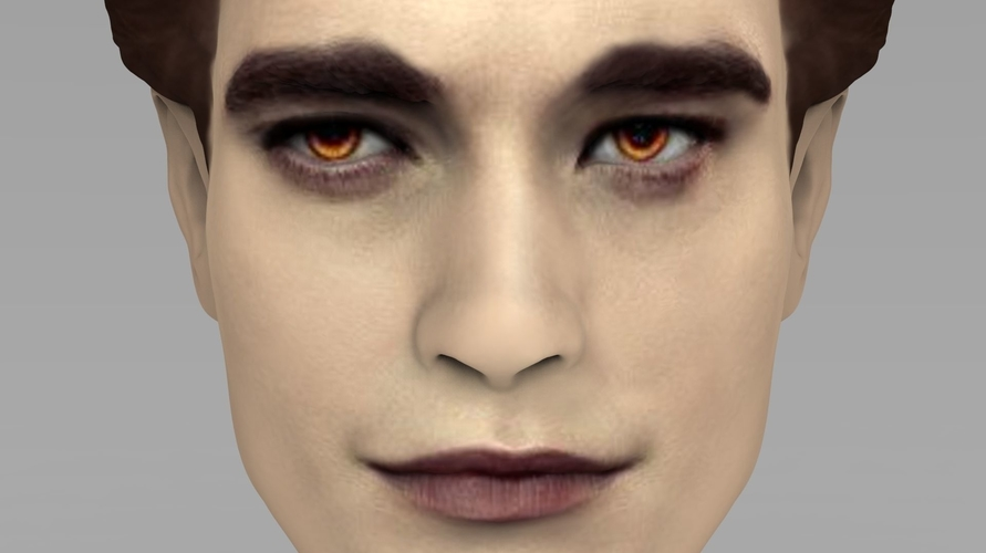 Edward Cullen Twilight Pattinson bust full color 3D printing 3D Print 231818