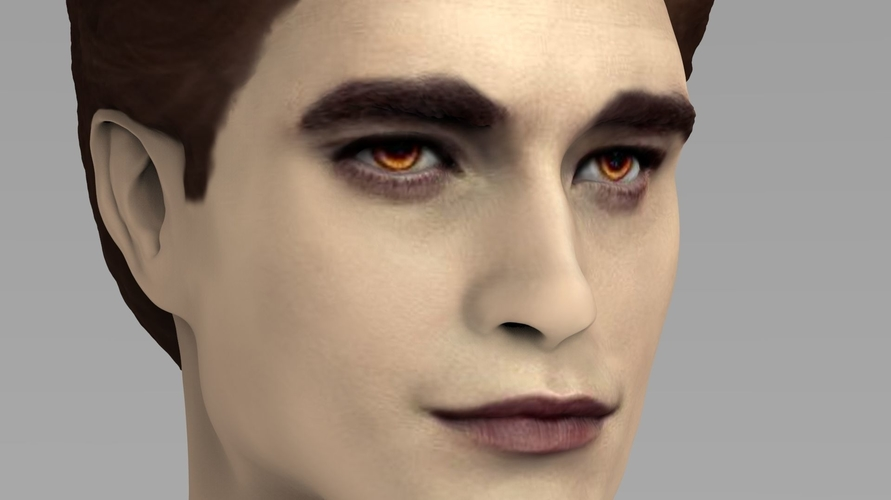 Edward Cullen Twilight Pattinson bust full color 3D printing 3D Print 231819