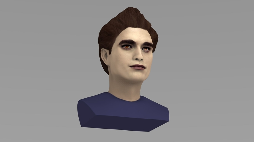 Edward Cullen Twilight Pattinson bust full color 3D printing 3D Print 231820