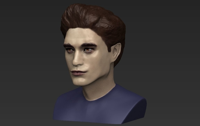 Edward Cullen Twilight Pattinson bust full color 3D printing 3D Print 231822