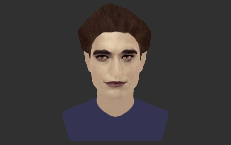 Edward Cullen Twilight Pattinson bust full color 3D printing 3D Print 231823