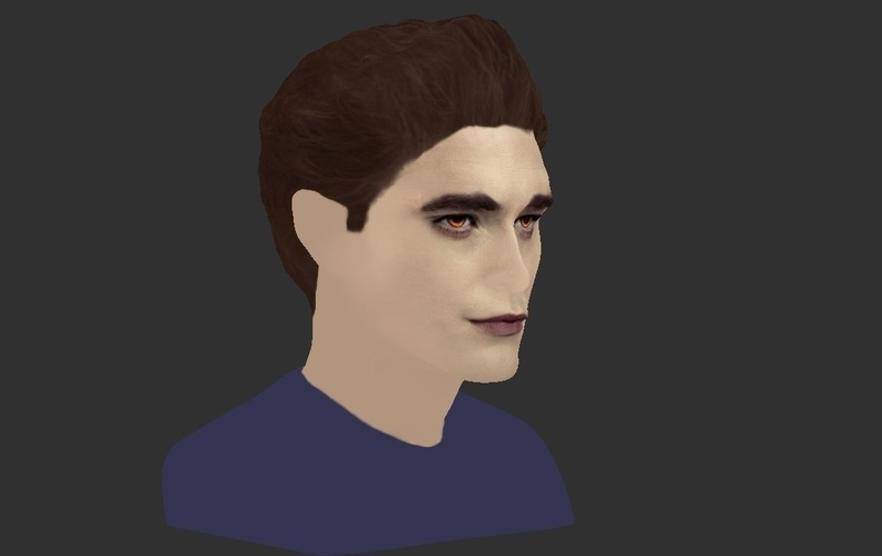 Edward Cullen Twilight Pattinson bust full color 3D printing 3D Print 231824