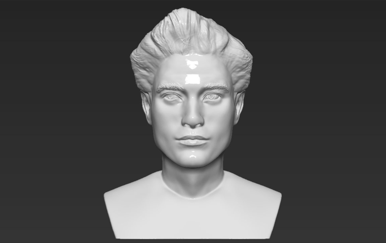 Edward Cullen Twilight Pattinson bust full color 3D printing 3D Print 231825
