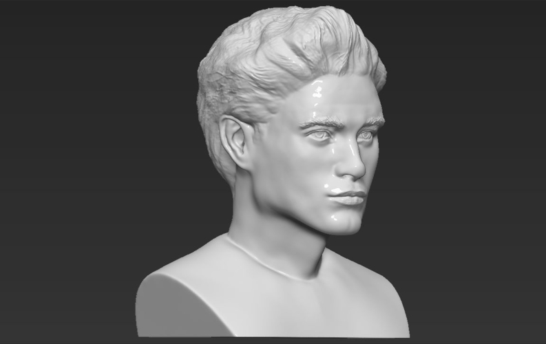 Edward Cullen Twilight Pattinson bust full color 3D printing 3D Print 231827