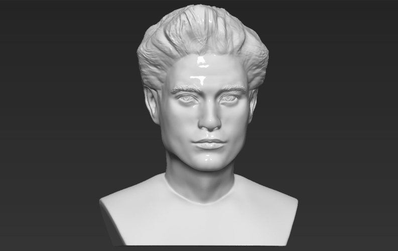 Edward Cullen Twilight Pattinson bust full color 3D printing 3D Print 231828