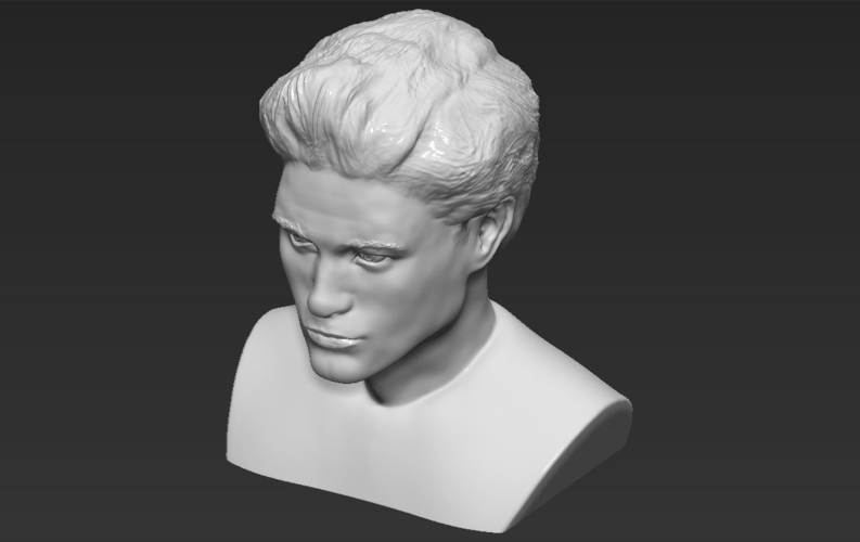 Edward Cullen Twilight Pattinson bust full color 3D printing 3D Print 231829