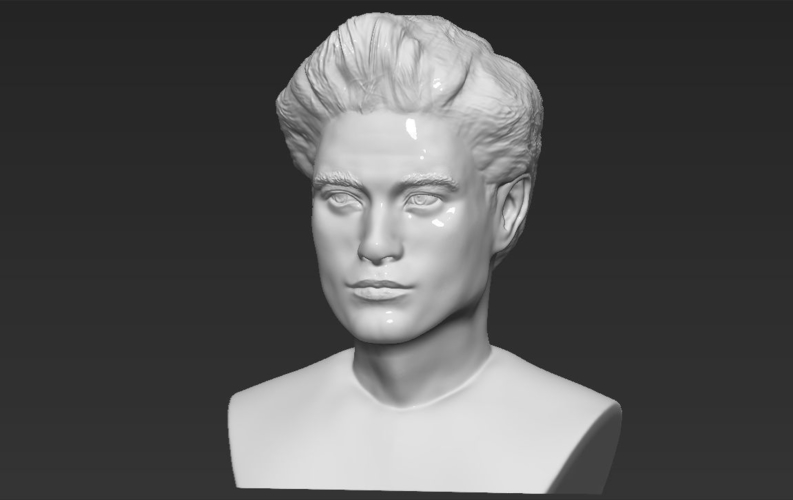 Edward Cullen Twilight Pattinson bust full color 3D printing 3D Print 231831