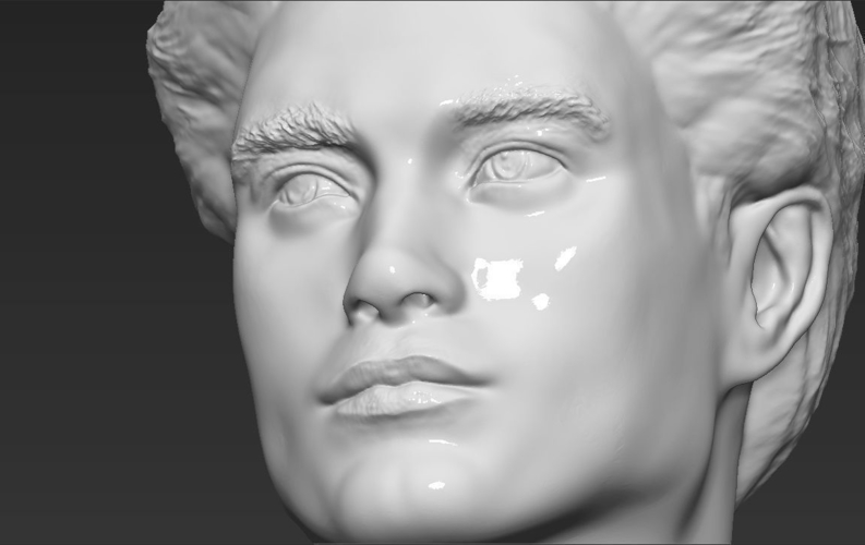 Edward Cullen Twilight Pattinson bust full color 3D printing 3D Print 231833