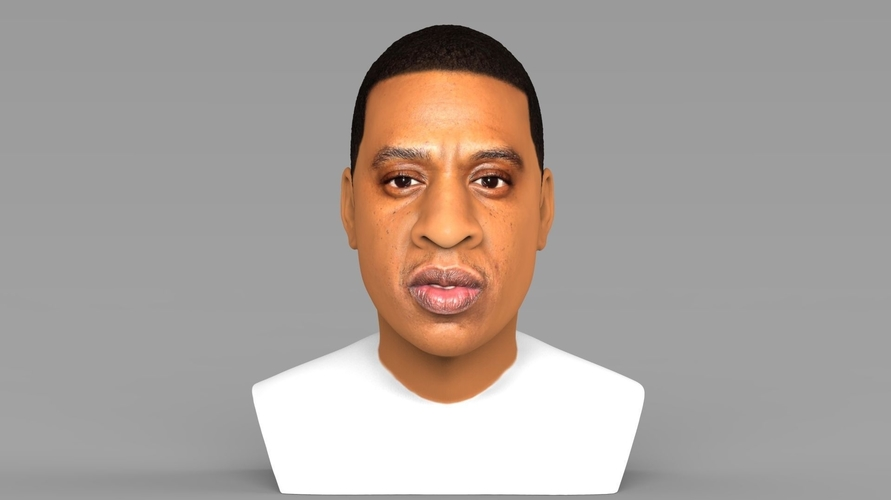 Jay-Z bust ready for full color 3D printing 3D Print 231892