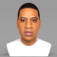 Small Jay-Z bust ready for full color 3D printing 3D Printing 231892