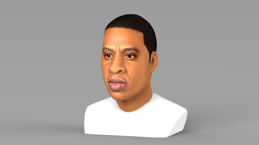 Jay-Z bust ready for full color 3D printing 3D Print 231893