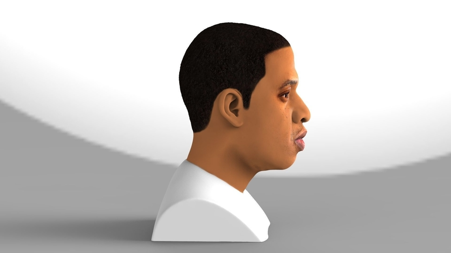 Jay-Z bust ready for full color 3D printing 3D Print 231897