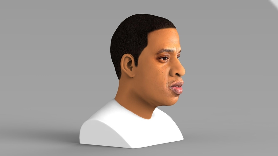 Jay-Z bust ready for full color 3D printing 3D Print 231898