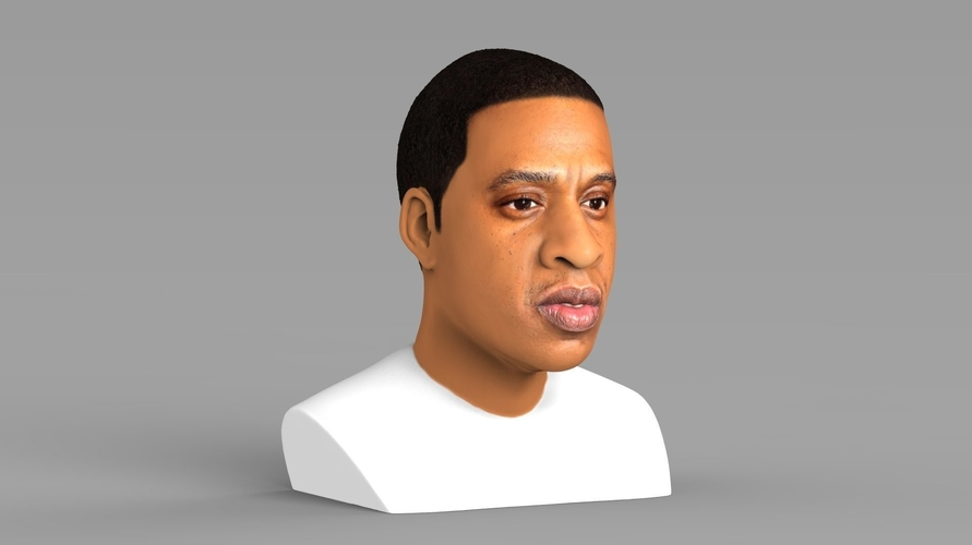 Jay-Z bust ready for full color 3D printing 3D Print 231899