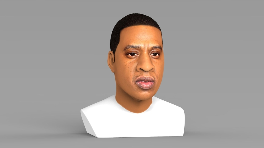 Jay-Z bust ready for full color 3D printing 3D Print 231900