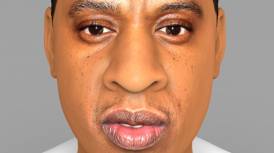 Jay-Z bust ready for full color 3D printing 3D Print 231903