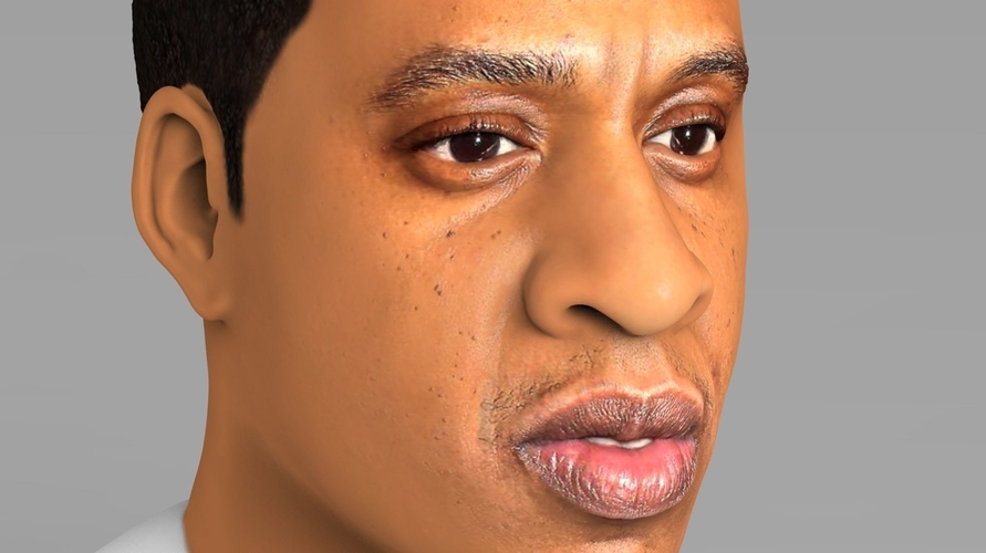 Jay-Z bust ready for full color 3D printing 3D Print 231904