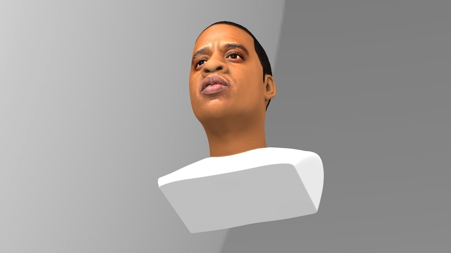 Jay-Z bust ready for full color 3D printing 3D Print 231905