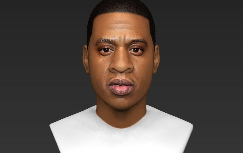 Jay-Z bust ready for full color 3D printing 3D Print 231906
