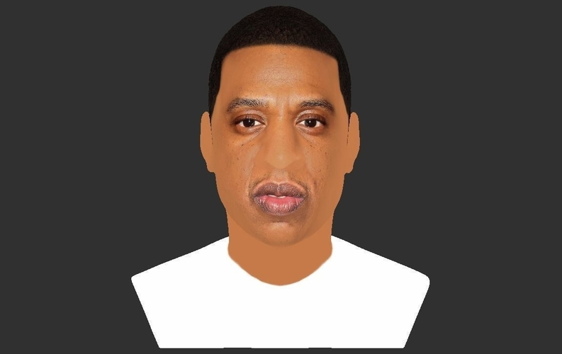 Jay-Z bust ready for full color 3D printing 3D Print 231907