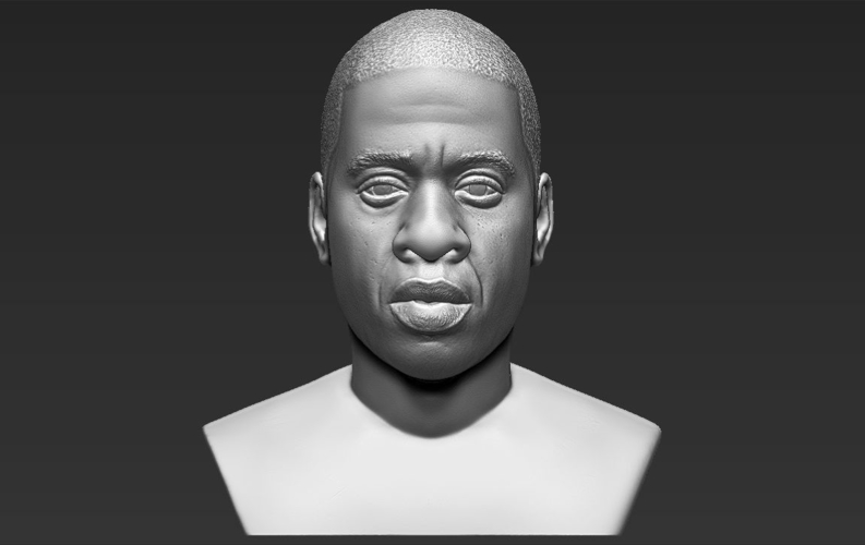 Jay-Z bust ready for full color 3D printing 3D Print 231908