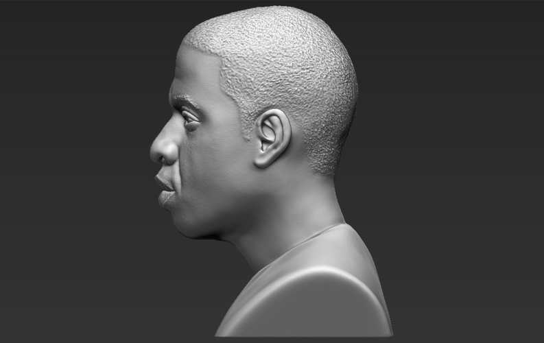 Jay-Z bust ready for full color 3D printing 3D Print 231910