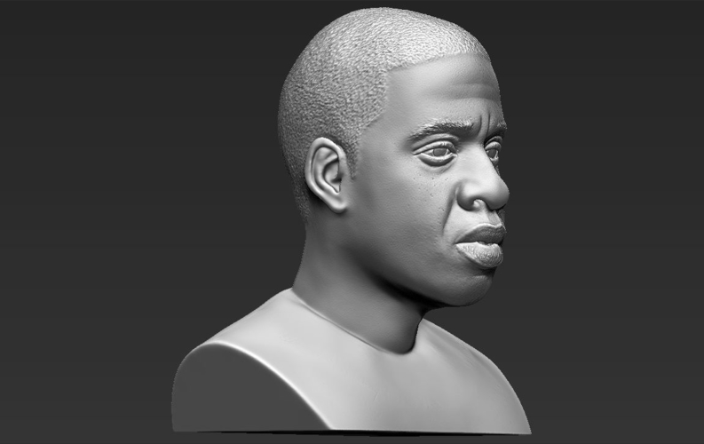 Jay-Z bust ready for full color 3D printing 3D Print 231911