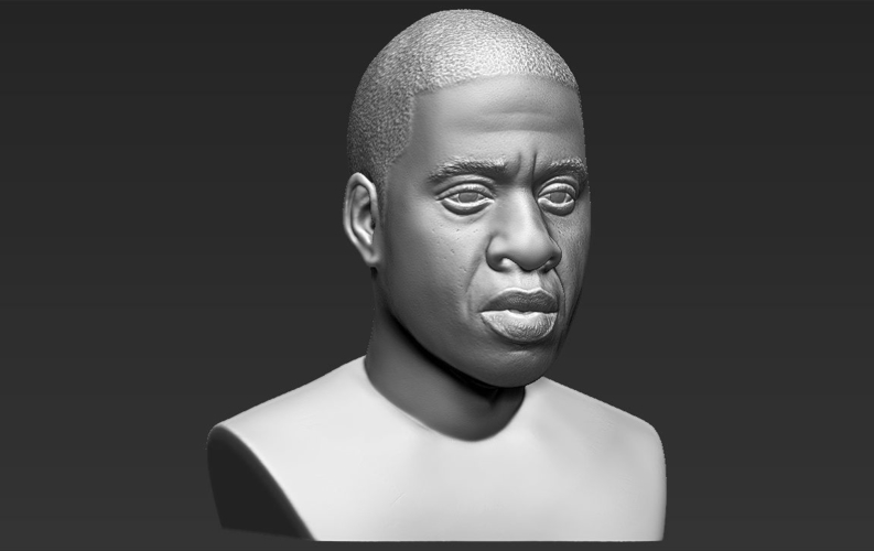 Jay-Z bust ready for full color 3D printing 3D Print 231912