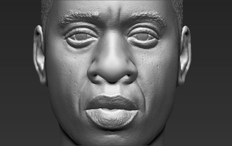 Jay-Z bust ready for full color 3D printing 3D Print 231915