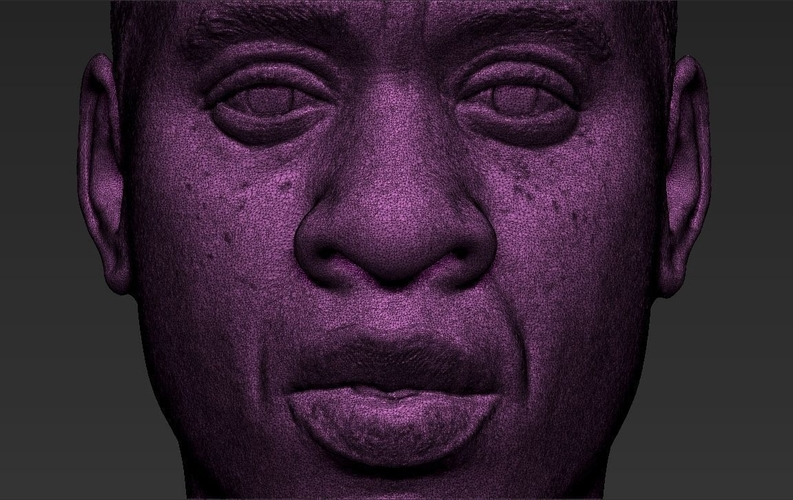 Jay-Z bust ready for full color 3D printing 3D Print 231916