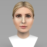 Small Ivanka Trump bust ready for full color 3D printing 3D Printing 231981
