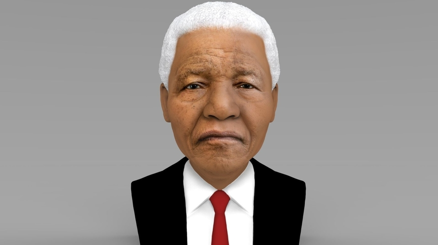 Nelson Mandela bust ready for full color 3D printing 3D Print 232042