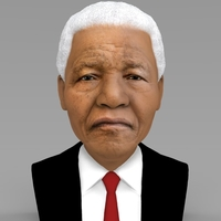 Small Nelson Mandela bust ready for full color 3D printing 3D Printing 232042