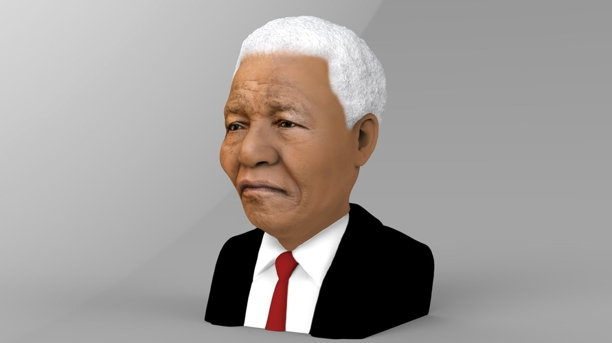 Nelson Mandela bust ready for full color 3D printing 3D Print 232044