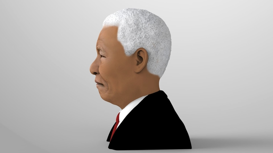 Nelson Mandela bust ready for full color 3D printing 3D Print 232045