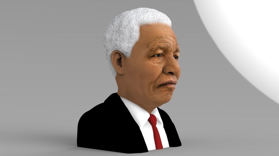 Nelson Mandela bust ready for full color 3D printing 3D Print 232047