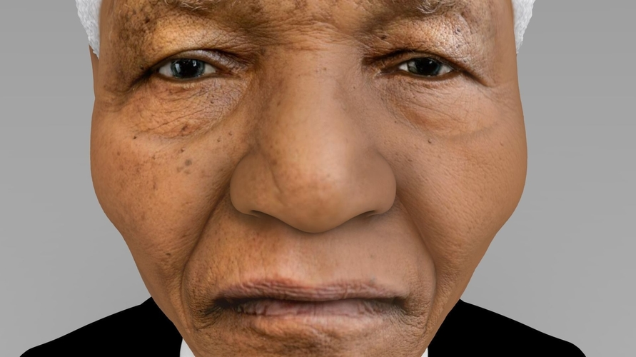 Nelson Mandela bust ready for full color 3D printing 3D Print 232049